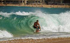skimboard wave
