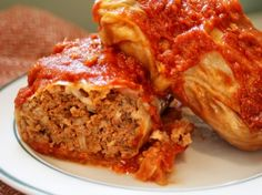 Stuffed Cabbage, Substitute ground turkey for beef. :)