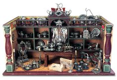 German Wooden Toy Pewter Shop View Catalog Item - Theriault's Antique Doll Auctions