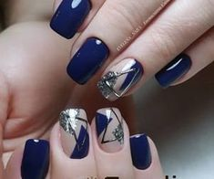 40 Trendy 2019 Dark Blue Nail Art Designs - Nails - Best Nail World Colorful Nail Designs, Beautiful Nail Designs, Beautiful Nail Art, Acrylic Nail Designs, Nail Art Designs, Acrylic Nails, Colorful Nails, Acrylic Art, Nails Design
