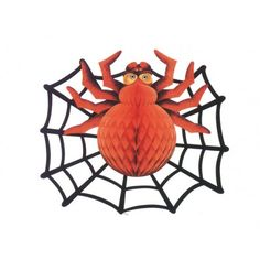 Spider & Spiderweb Decoration 36x46cms Halloween Disfraces, Rooster, Spiders, Diy, Animals, Decoration, Books, Costume Halloween, Halloween Prop