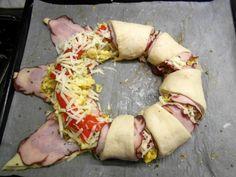Pizzový veniec so šunkou (fotorecept) - obrázok 8 Hawaiian Pizza, Food, Basket, Essen, Meals, Yemek, Eten