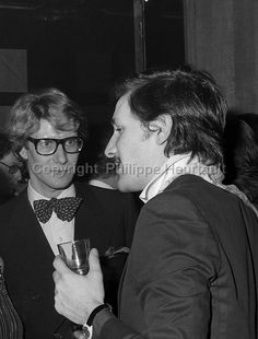 Yves Saint Laurent and Jacques de Bascher - photo by Philippe Heurtault