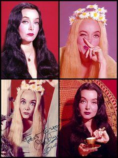 Carolyn Jones as Morticia and Ophelia Addams The Addams Family (1964-1966)