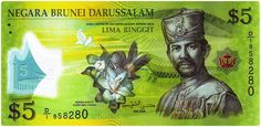 Brunei (Currency: Brunei dollar)