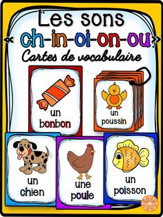 Les sons ch-in-oi-on-ou - Cartes de. by French Buzz French Teaching Resources, Teaching French, Letter Recognition Games, Grade 1 Reading, French Course, Reading Recovery, French Worksheets, French For Beginners, French Kids