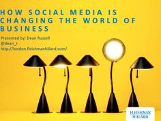 How Social Media is Changing the World of Business by Dean Russell,...