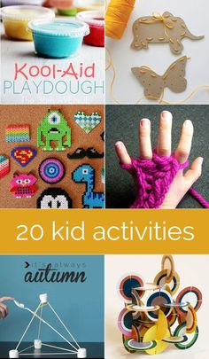 if it's getting too cold to head outside, here are 20 fun & easy indoor crafts and activities to keep your kids busy and happy on rainy/snowy days