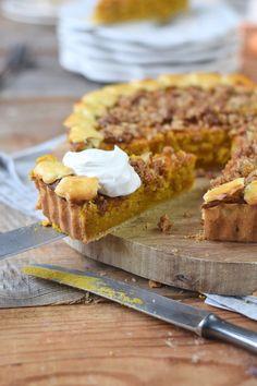 Pumpkin Pie with pekan crunch - Kürbis Pie mit Pekan Krokant Streuseln | Das Knusperstübchen