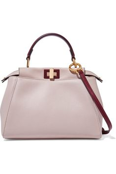 Stone, burgundy and baby-pink leather (Lamb) Turn lock fastenings at top Weighs approximately 2.2lbs/ 1kg Made in Italy