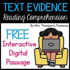 FREE Reading Comprehension Passage for Google Slides™ (Distance Learning)