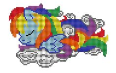 Original idea from:www.pinterest.com/pin/40757583… Original artwork from:raygirl.deviantart.com/ Redesigned by me. For use for cross stitch or perler patterns.