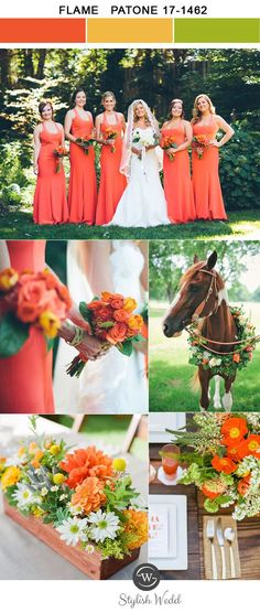 vivid flame woodland spring and summer wedding colors for 2017 trends