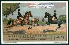 Schooling Training Horses CABRIOLE ET LANCADE 1930s Card NICE!