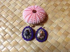 Opihi shell earrings