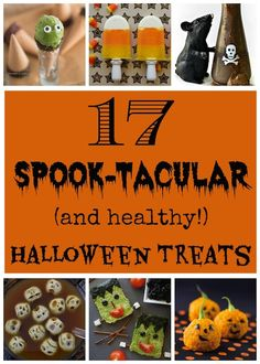 Delicious, super-cute and healthy! Halloween snacks, treats, appetizers and drinks! Perfect for school parties, big Halloween bashes, plus snacks and even side dishes all through the Halloween season!