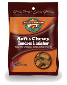 Nature's Harvest Soft & Chewy Dog Treats are the perfect size to  reward your dog for playing nice with all the other dogs. With these grain-free and gluten-free treats, you are sure to be the star of your local dog park.     Available in four yummy flavours:  Beef & Garlic,   Chicken & Cranberry,  Peanut Butter & Cinnamon, and Salmon & Kelp.    Pick them up at your neighbourhood Global Pet Foods store.  To find a store near you visit www.globalpetfoods.com/store-locations