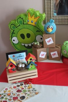 Decor at an Angry Birds Party