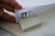 Tutorial: How to carve eraser stamps by Wedgienet.net - Illustration / Design, via Flickr  Very Clear instructions on how to carve stamps and transfer images. She has a post re: Stampin' Up! Undefined stamp carve kit also, which had a link to this post which helped me understand how to do this and I'm looking forward to trying my hand at this! :) In fact, I think I'll go try it now! :)