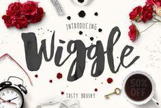Wiggle Typeface + Bonus by konstantinestudio on Creative Market