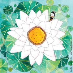 Beijos de Algodão: A Abelha e a Flor #2