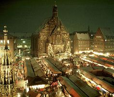 Nuremberg, Germany during the Christkindlesmarkt. Oh how I miss this!! We did this every year as a kid