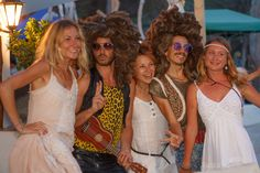 Flower Power people and interactive theater by Diagonal Pre Party, Greatest Hits, Live Music, Ibiza, Flower Power, Tuesday, Theater, Dj, Seasons
