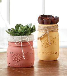 How To Make Wildflower Distressed Mason Jars