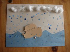 Noah's Ark Craft - How cool would it be to put to the ark on a Popsicle stick so you could move it around?