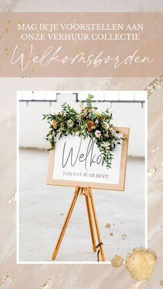 Wij verhuren toffe borden voor jouw bruiloft of feest. Klik op de afbeelding om heel de collectie te zien!