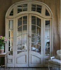 Mirrored antique french door