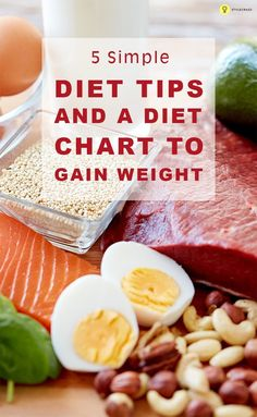 11 Simple Diet Tips And A Diet Chart To Gain Weight Skinny girls try to gain weight using market products which usually have unwanted side effects. Instead here is a diet chart for weight gain that will help you reach your goal. Weight Gain Diet Plan, Gain Weight Fast, Weight Gain Meals, Healthy Weight Gain, Healthy Diet Tips, Healthy Eating, How To Gain Weight For Women, Ways To Gain Weight, Healthy Snacks