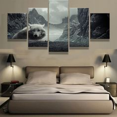 Wall Canvas Art Printed Painting Poster Wall Modular Picture for Home Decoration 5 Pieces Animal Wolf Painting Kids Room Living Room Canvas Prints, Living Room Art, Canvas Art Prints, Canvas Wall Art, Canvas Frame, 5 Piece Canvas Art, Modern Canvas Art, Canvas Pictures, Print Pictures