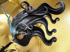 Ocean Medusa Headdress Face Mask by semmerlingmasks on Etsy, $800.00