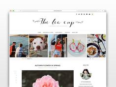 The Tea Cup - Wordpress blog theme by CityHouseDesign on @creativemarket