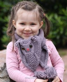 Owl Scarf Knitting pattern