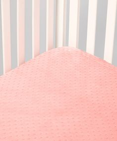 Take a look at this Lolly Gags Coral Minky Fitted Crib Sheet on zulily today!