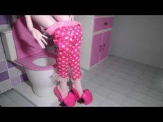 Como fazer um banheiro (vaso sanitário) para boneca Monster High, Barbie, Pullip e etc