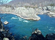 The view from the crack by Juliet's Balcony at Great Falls. Pix by Ron Hinckley