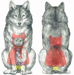 クリックすると新しいウィンドウで開きます Little Red, Folklore, Literature, Designer Purses, Puppies, Cats, Red Hood, Storytelling, Pretty Art