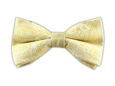 Waltzing Paisley - Gold (Bow Ties)