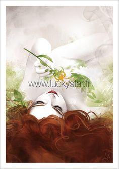 Lazy Beauty // Impression numérique // Poison // Illustration numérique // Idée cadeau originale // Anniversaire // Art // Tableau // Noel de la boutique ArtofLuckyStar sur Etsy