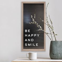 Contemporary and trendy, this New View letter board wall decor is perfect for displaying an inspirational message or favorite quote.