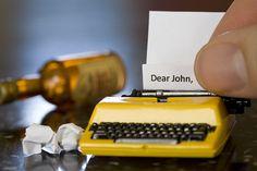 Tiny typewriter. Tiny note.