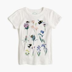 Garments for Good: The world's most important plant pollinators (bees) are in danger of disappearing, which is why we've teamed up with the Xerces Society for Invertebrate Conservation, a nonprofit organization dedicated to the conservation of insects. To help support its cause, we made this T-shirt featuring hand-drawn watercolors by London-based illustrator Marcel George (who our head women's designer discovered in an online gallery for new artists). Fifty percent of the retail price from…