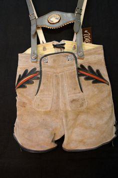 XS Authentic German Lederhosen Breeches