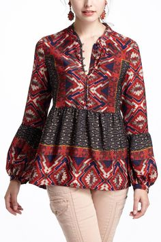 Zydeco Peasant Blouse - Anthropologie.com