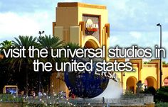 Visit the Universal Studios in the United States