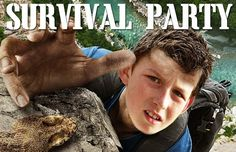 Boy Vs Wild Survival party Website - with clips of Bear Grylls for use at party