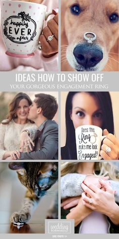 Ideas How To Show Off Your Gorgeous Engagement Rings ❤ There are many ways show off your engagement ring, for example you also can use puppy or take a selfie where it happened. See more: http://www.weddingforward.com/gorgeous-engagement-rings/ #wedding #engagement #photos